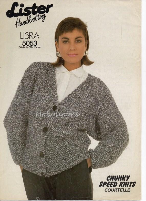Ladies Knitting Pattern ladies chunky v neck cardigan by Hobohooks