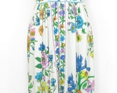 1970's Maurice floral maxi dress!