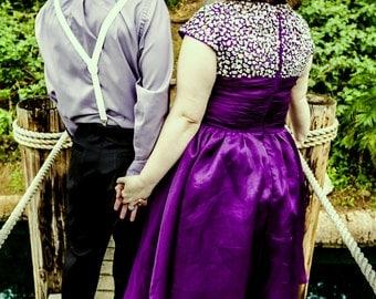 Julia Modest Prom Dress - Purple Modest Prom Dress - Prom Dress with Sleeves - Modest Homecoming Dress - Modest Party Dress - Modest Formal