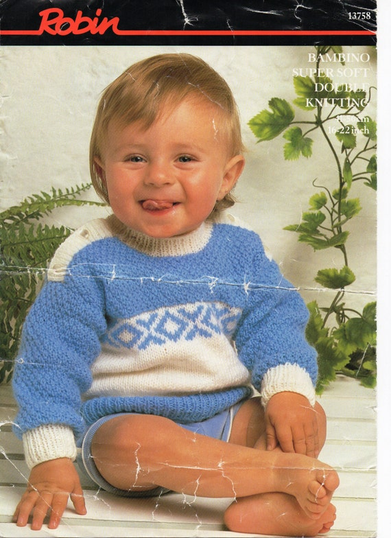 Baby Knitting Pattern Baby Fair isle Sweater Baby Jumper