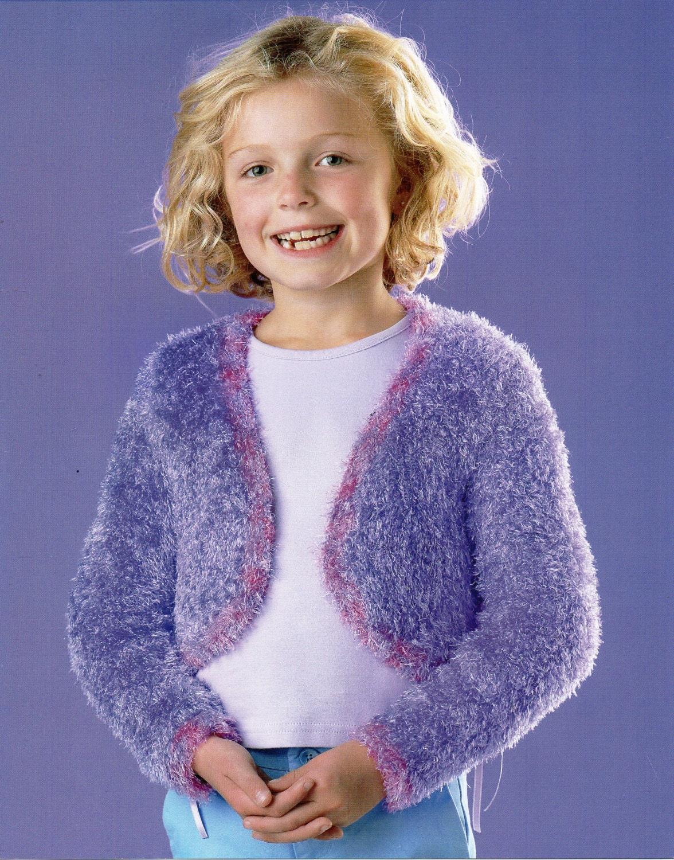 Girls Bolero Knitting Pattern Furry Bolero Girls Knitting