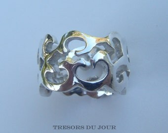 Unique Wedding Rings Non Traditional Wedding Rings Silver Ring Large Damaskr Ring Handmade Sculpted SILVER Ring Damask Arabesque Cutout Ring