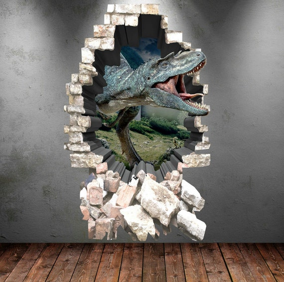 3d Dinosaur Wall Art dinosaur wall decal 3d dinosaur t-rex wall art sticker decal