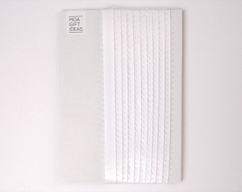 3m White picot edge satin ribbon – 3 metres, 9mm, 3/8 inches