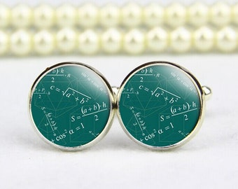 Math Cufflinks, Graduation Cufflinks, math formulas, custom any text, personalized cufflinks, custom wedding cufflinks, groom cufflinks,