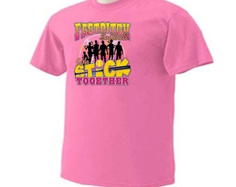 FASTPITCH SOFTBALL We Stick Together Girls Softball T-Shirt