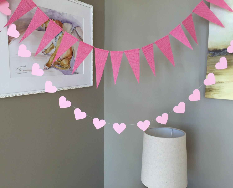 pink burlap banner baby shower banner birthday decor