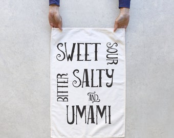 Foodie Tea Towel - kitchen towel - hostess gift   gourmet gift - Made in the USA - cotton tea towel by Blackbird Tees - CLOSEOUT