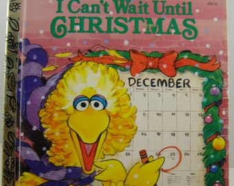 Sesame Street's I Can't Wait Until Christmas, vintage Little Golden Book