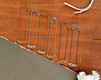 Sailor's Knot Bracelet - gold knot bracelet, silver knot bracelet, nautical rope knot bracelet, infinity knot, B13/B14/B15
