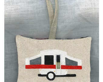 Pop Up Camper Hand Painted Ornament by SBMathieu