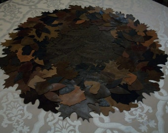 Leather and Suede Table Topper