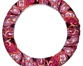Pink Paisley Steering Wheel Cover-Cute Car Accessory-Paisley Wheel Cover- Car Decor-Car Accessoryfor Women-SteerWheel Cover-Stocking Stuffer