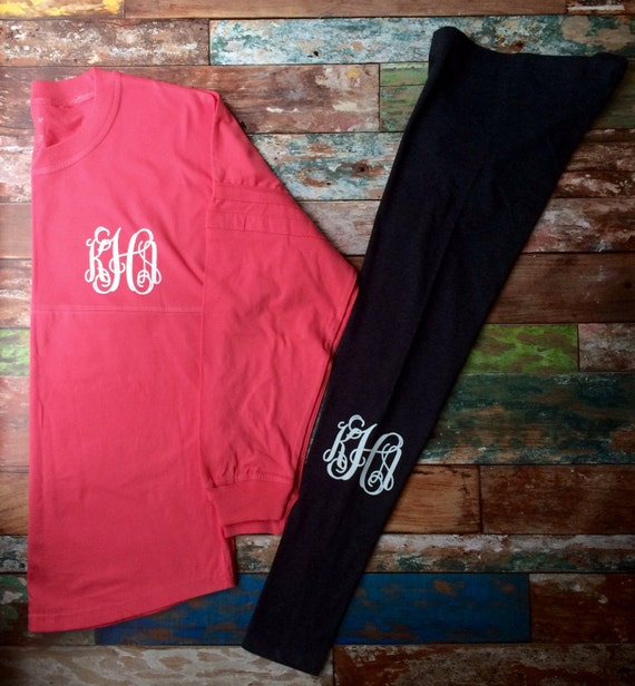 Monogrammed Leggings Personalized Leggings Monogrammed