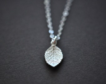 Leaf Necklace - Leaf Pendant - Sterling Silver Leaf Necklace - Leaf Pendant With Chain - Fall Fashion - Gift For Women - Nature Jewelry