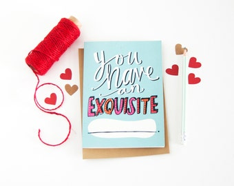Funny Valentine's Day Card - Anniversary Card - Fill In The Blank - I Love You Card - Long Distance Relationship Card - Miss You Card