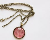 SAMPLE SALE Statement Jewelry / Long Necklace / Photo Pendant / Bronze Chain / Small Gifts / Vintage Inspired Jewelry / Stocking Stuffer