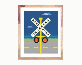 "11x14"" Crossing Train Print"