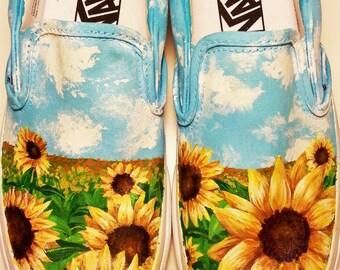 Custom Sunflower shoes