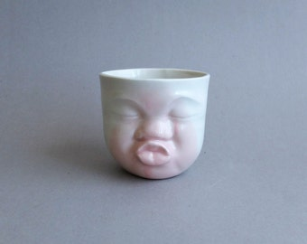 Pink cup, ceramic cup, porcelain cup, coffee cup, love gift, funny cups, pottery cups, porcelain dinnerware, modern pottery, valentines day