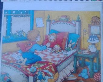 Daisy Kingdom, Mary Engelbreit, Vintage Iron on transfer, boy iron on, boy applique