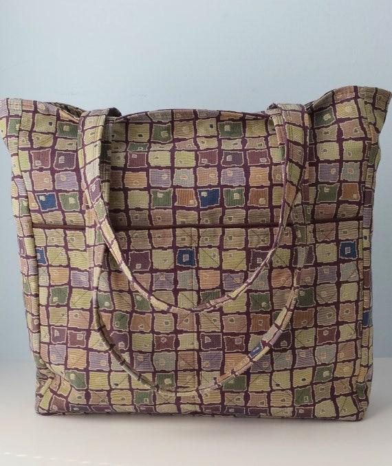 Weekender Bag Knitting Pattern : Large Knitting Tote Weekender Tote Teacher Carryall Book Bag