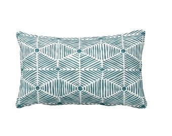 Blue Throw Pillow Cover Teal Blue Pillow Covers Decorative Pillows for Bed Blue Lumbar Pillows Blue Pillowcases Accent Pillows Toss Pillows