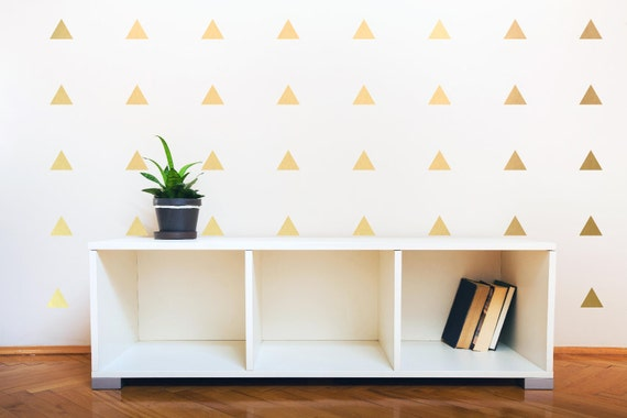 Gold Triangle Wall Decals Triangle Decals Geometric Wall Mural Decal  Nursery wall decal
