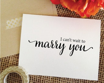 Wedding Card I cant wait to marry you card wedding day card wedding card to groom card for bride to groom card (Lovely)