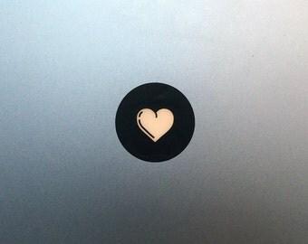Heart Macbook Decal / Macbook Pro Love Sticker