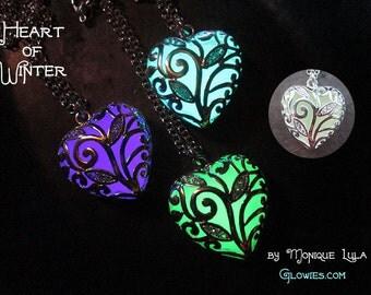 Heart of Winter Frozen Forest Glow in the Dark Necklace