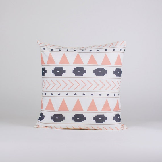 Modern Pillow Covers Etsy : Items similar to Pillow Cover, Modern Pink & Charcoal Gray Pillow Cover on Etsy
