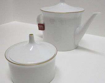 Rosenthal Tempelhof German Teapot and Sugar Bowl Set