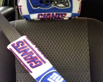 Football Team Headrest and Seatbelt Covers