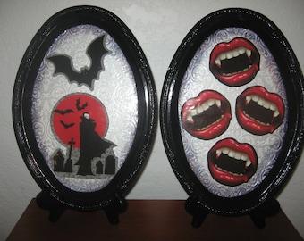 Halloween Decor-Halloween Plaque- Wall Hanging-Vampires!
