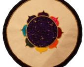 Mythala: Spiral Rainbow Lotus. Mandala...Myth...Mythala (Wall Hanging, Altar Cloth, Prayer, Meditation, Medicine Wheel, Devotional, Ritual)
