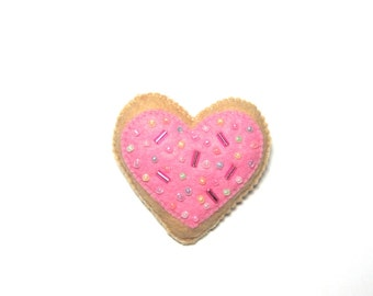 Valentine Heart - Heart Brooch - Pink Heart Pin - Heart Gift - Pink Heart Brooch - Heart Jewellery - Valentines Day Gift