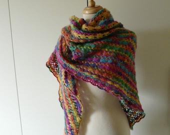 Colorful Angora Shawl
