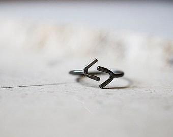 Harvest Rune Ring - Elder Futhark Jera Ring - Sterling Silver Norse Ring - Elvish, Boho Ring by Prairieoats