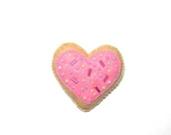 Love Heart - Heart Brooch - Pink Heart Pin - Heart Gift - Pink Heart Brooch - Heart Jewellery - Mothers Day Gift