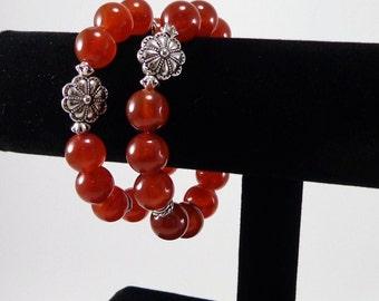 Carnelian Bracelet/ orange/ Carnelian/ gemstone/ Bracelet