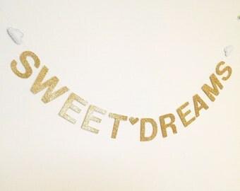 Sweet Dreams Glitter Banner - Felt clouds