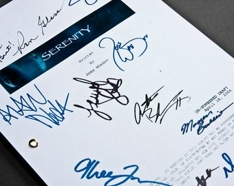 Serenity Film Movie Script with Signatures/Autographs Reprint Joss Whedon Firefly