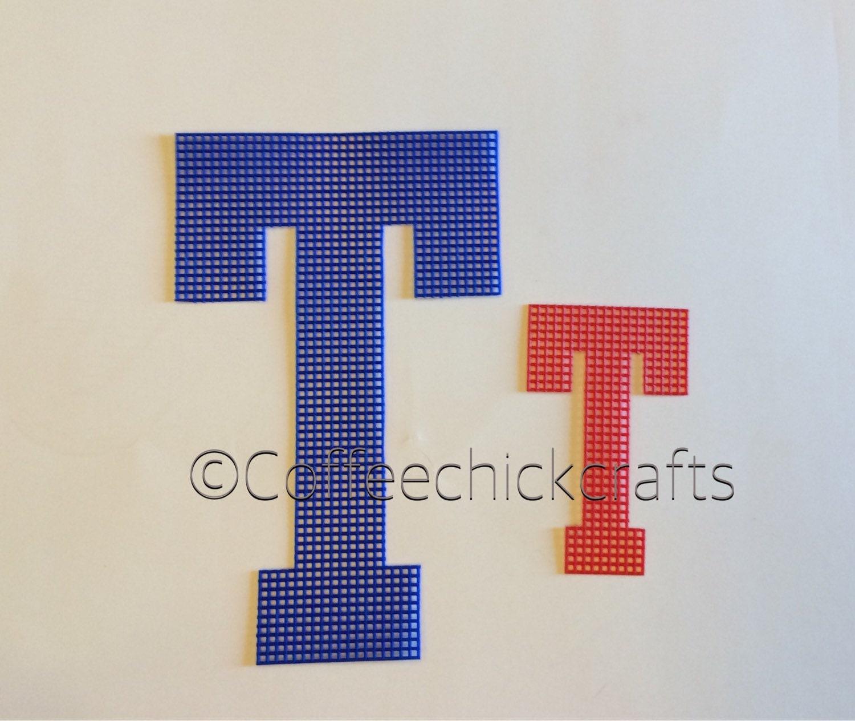 9 Individual Plastic Canvas Uppercase Alphabet Large