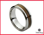 Tungsten wedding band,Tungsten carbide ring wood inlay,FREE ENGRAVING 8mm width band,Tungsten Ring,Wedding band for men-women