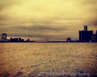 Detroit and Canada from Belle Isle in Michigan, Digital Photography