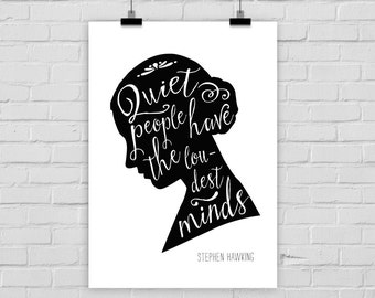 fine-art print QUIET PEOPLE quote silhouette