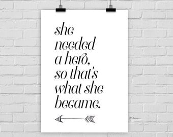 fine-art print HERO motivational quote strength arrow