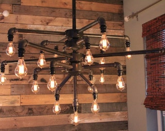 Black iron pipe lamp etsy for Black iron pipe lights
