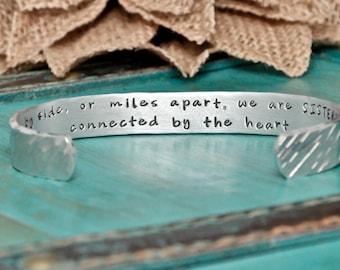 Sisters bracelet, hand stamped bracelet for Sisters, best friends bracelet, bracelet for sisters